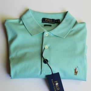 Ralph Lauren Polo Classic Shirt Blue Green Men's L
